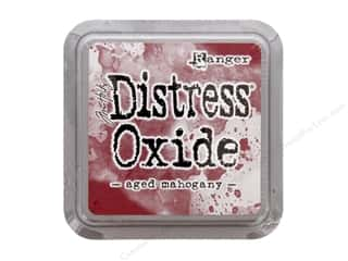 stamps: Ranger Tim Holtz Distress Oxide Ink Pad Aged Mahogany