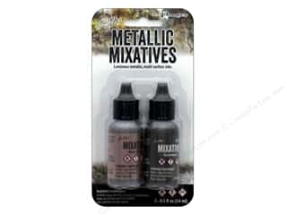 Ranger Tim Holtz Alcohol Ink Set Mixative Rose Gold/Gunmetal