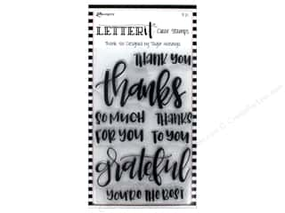 Ranger Stamp Letter It Clear Set Thank You