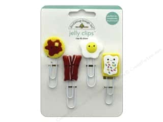 Clearance: Doodlebug Collection So Punny Jelly Clips Rise & Shine