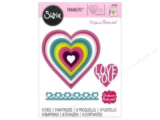 die cuts: Sizzix Dies Stephanie Barnard Framelits Hearts Dotted