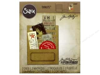 Sizzix Tim Holtz Thinlits Die Set 2 pc. Stitched Slots