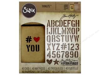 Sizzix Tim Holtz Thinlits Die Set 40 pc. Gift Card Bag