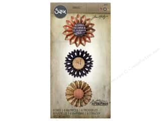 die cutting machines: Sizzix Dies Tim Holtz Thinlits Rosette Set