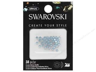 Cousin Swarovski Hotfix 3mm Aquamarine 38pc
