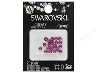 Cousin Swarovski Hotfix 5mm Fuchsia 20pc