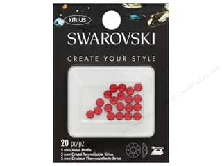 Cousin Swarovski Hotfix 5mm Light Siam 20pc