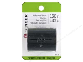 Singer Thread All Purpose Polyester 150 yd.  Black