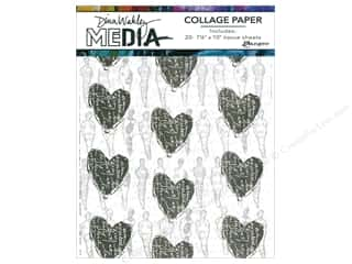 vellum: Ranger Dina Wakley Media Collage Collage Paper 20 pc.