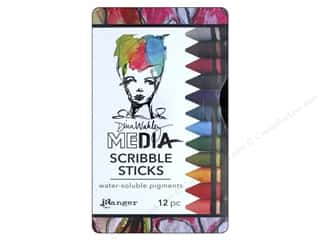 colored pencils: Ranger Dina Wakley Media Scribble Sticks Set 2 12 pc.