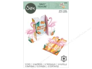dies: Sizzix Dies Jen Long Thinlits Card Flamingo Fold-A-Long
