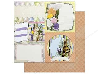 scrapbooking & paper crafts: Bo Bunny Collection Cottontail Paper 12 in. x 12 in. Bunnies (25 pieces)