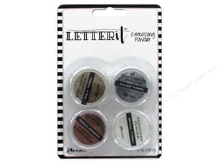 embossing powder: Ranger Letter It Embossing Powders - Tinsels