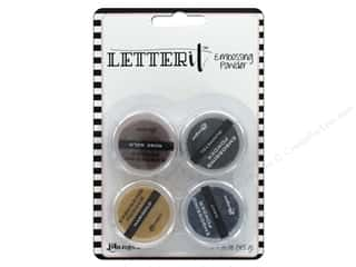 embossing powder: Ranger Letter It Embossing Powders - Metallics