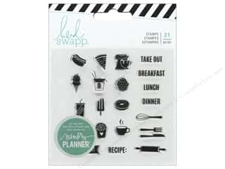 American Crafts Heidi Swapp Collection Fresh Start Memory Planner Clear Stamp Food