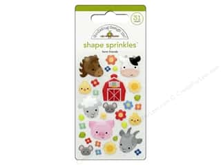stickers: Doodlebug Down On The Farm Sprinkles Shape Friends