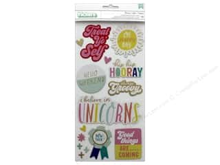 American Crafts Collection Dear Lizzy Stay Colorful Thickers Sticker Phrase Groovy