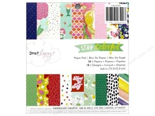 American Crafts Collection Dear Lizzy Stay Colorful Paper Pad 6 in. x 6 in.