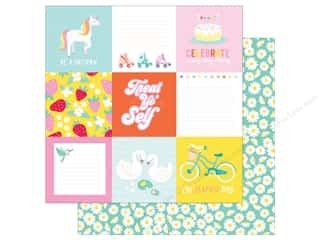 scrapbooking & paper crafts: American Crafts Collection Dear Lizzy Stay Colorful Paper 12 in. X 12 in. Banana Seat (25 pieces)