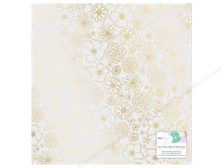 vellum: American Crafts Collection Dear Lizzy Stay Colorful Paper  12 in. X 12 in. Vellum Foil Gold (15 pieces)