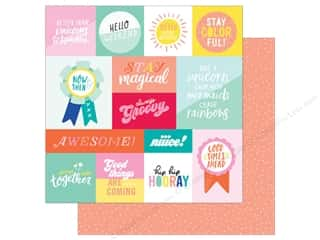 scrapbooking & paper crafts: American Crafts Collection Dear Lizzy Stay Colorful Paper 12 in. X 12 in. Radical (25 pieces)
