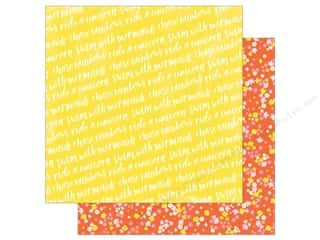 American Crafts Collection Dear Lizzy Stay Colorful Paper 12 in. x 12 in. Phychedelic