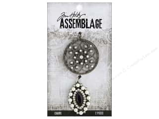 beading & jewelry making supplies: Tim Holtz Assemblage Charms Medallion And Cat Eye