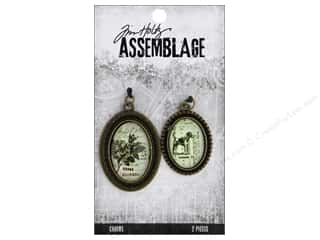 Tim Holtz Metallic Mixative: Tim Holtz Assemblage Charms Bezels Brass