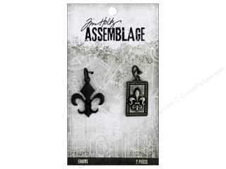 beading & jewelry making supplies: Tim Holtz Assemblage Charms Fleur De Lis