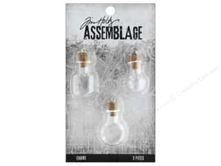 beading & jewelry making supplies: Tim Holtz Assemblage Charms Glass Vials