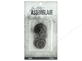 Tim Holtz Metallic Mixative: Tim Holtz Assemblage Charms Gears And Cogs
