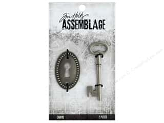 Tim Holtz Metallic Mixative: Tim Holtz Assemblage Charms Key And Keyhole