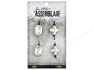 beading & jewelry making supplies: Tim Holtz Assemblage Charms Faceted Gems