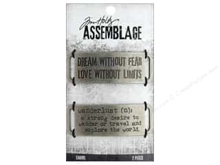 beading & jewelry making supplies: Tim Holtz Assemblage Charms Metal Bands