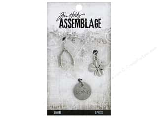 beading & jewelry making supplies: Tim Holtz Assemblage Charms Lucky