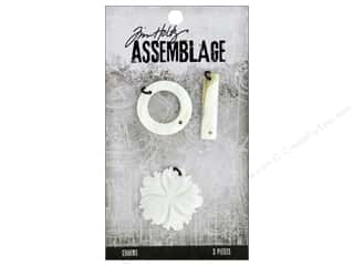 beading & jewelry making supplies: Tim Holtz Assemblage Charms Shell Flower And Links