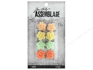beading & jewelry making supplies: Tim Holtz Assemblage Charms Roses