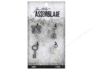 beading & jewelry making supplies: Tim Holtz Assemblage Charms Monarch