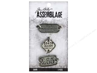 beading & jewelry making supplies: Tim Holtz Assemblage Charms Tags