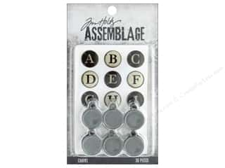 Tim Holtz Metallic Mixative: Tim Holtz Assemblage Charms Typewriter Keys