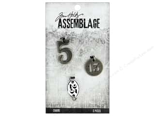 beading & jewelry making supplies: Tim Holtz Assemblage Charms Numbers