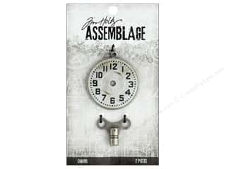 beading & jewelry making supplies: Tim Holtz Assemblage Charms Timepiece And Clock Key