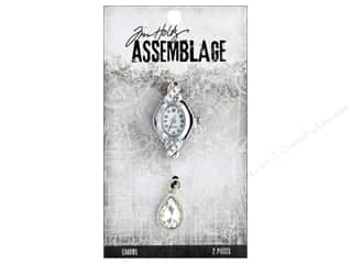 Tim Holtz Metallic Mixative: Tim Holtz Assemblage Charms Watch Face And Droplet