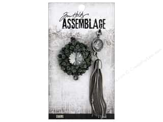 beading & jewelry making supplies: Tim Holtz Assemblage Charms Adorned Bijou And Tassel