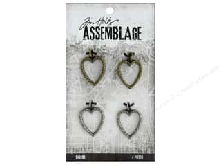 Tim Holtz Metallic Mixative: Tim Holtz Assemblage Charms Links Heart