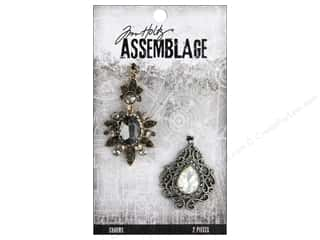 beading & jewelry making supplies: Tim Holtz Assemblage Charms Baroqued Diamonds