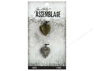 beading & jewelry making supplies: Tim Holtz Assemblage Locket Ornate Hearts