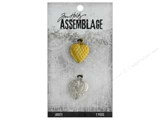 beading & jewelry making supplies: Tim Holtz Assemblage Locket Hearts