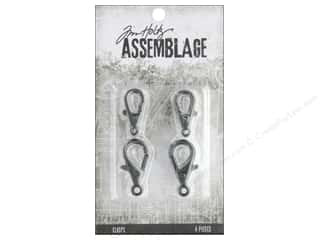 craft & hobbies: Tim Holtz Assemblage Clasps Lobster Claw Large Silver