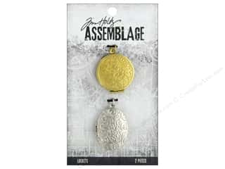 beading & jewelry making supplies: Tim Holtz Assemblage Locket Round And Oval